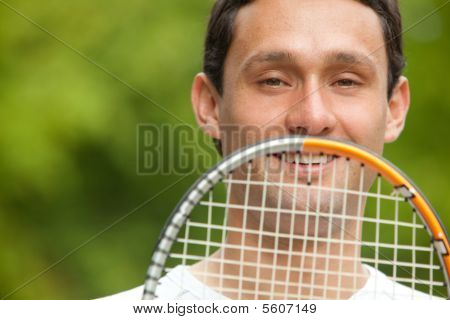 Man And A Racket