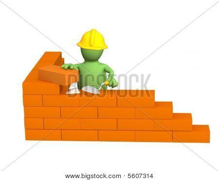 3D Puppet Builder, Gebäude eine Mauer