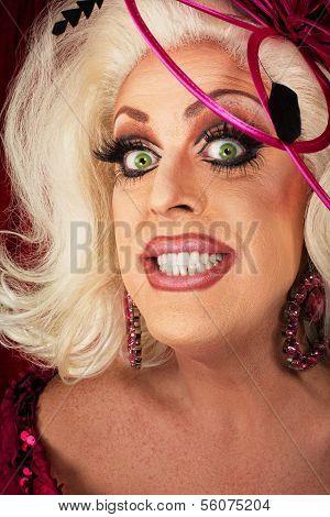 Smiling Woman With Long Eyelashes