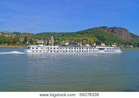 River cruise ship on the Rhine