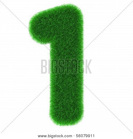 Number One Made Of Grass