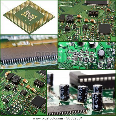 Collage Of Micro Circuit Board