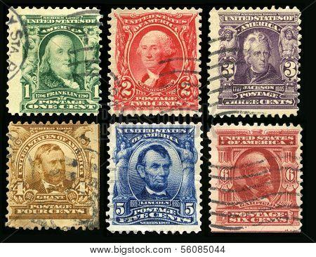 Vintage Us Postage Stamps (1902)