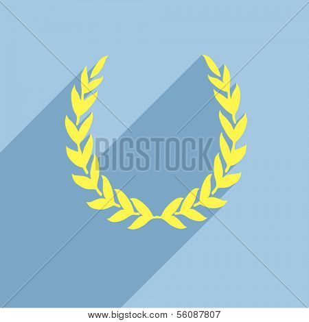 detailed illustration of a retro flat style laurel wreath, eps10