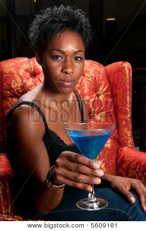 Blue Martini Drink
