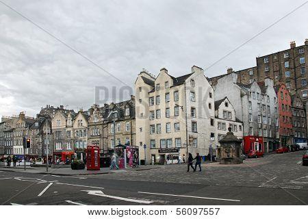 Edinburgh Old Town Edinburgh - August 29: Victoria Street, Edinburgh (scotland): The Famous Street I
