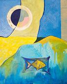 image of triptych  - Original oil paintings on canvas - JPG