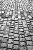 image of cobblestone  - cobblestone pavement or stone pavement texture abstract background - JPG