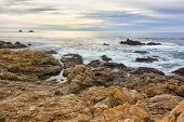 picture of pch  - Early Dusk on the Beach at Garrapata State Park - JPG