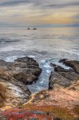 pic of pch  - Early Dusk on the Beach at Garrapata State Park Vertical Image - JPG