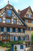 Typical Swiss Timbered Houses