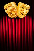 stock photo of pantomime  - Theatre performance concept with masks - JPG