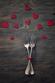 stock photo of two hearts  - Restaurant series - JPG