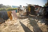 KATHMANDU, NEPAL - DEC 16: Illegal houses at slums in Tripureshwor district, Dec 16, 2013 in Kathman