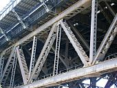 pic of girder  - Sydney Harbour Bridge Girders taken from ground view - JPG