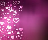 foto of corazon  - Valentine Hearts Abstract Pink Background - JPG