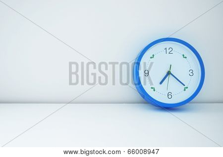 Blue Clock On Wall