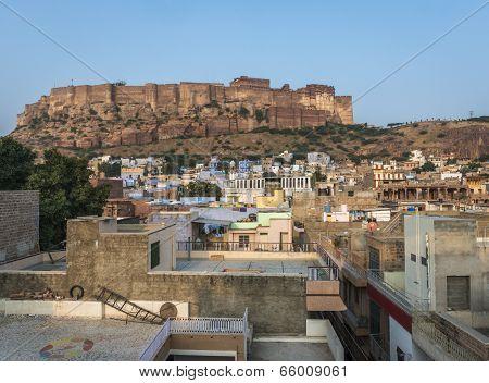 Mehrangarh Fortress In Jodhpur, Rajasthan, India
