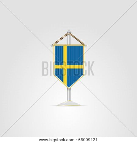 Illustration Of National Symbols Of European Countries. Sweden.