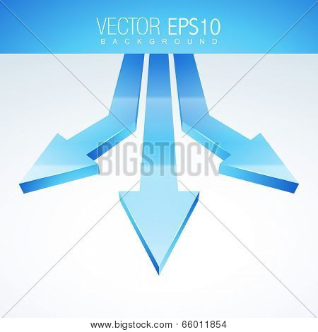 vector creative 3d arrows background
