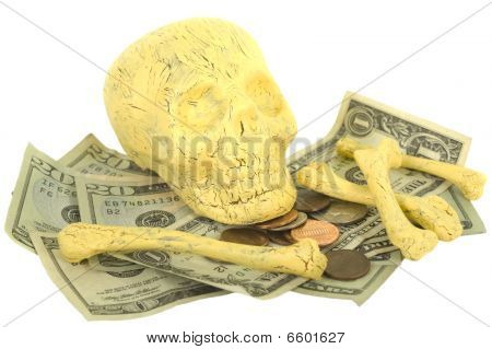 Skull And Bones With Money