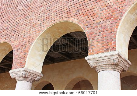 Architectural Details Of The Building Of A City Hall, Stockholm, Sweden
