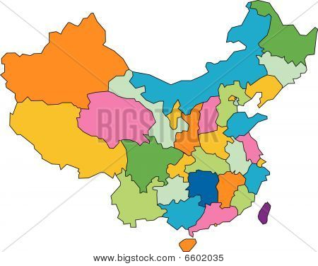 China with Administrative Districts
