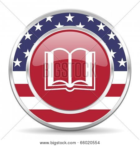 book american icon, usa flag