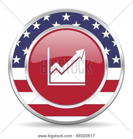 histogram american icon, usa flag