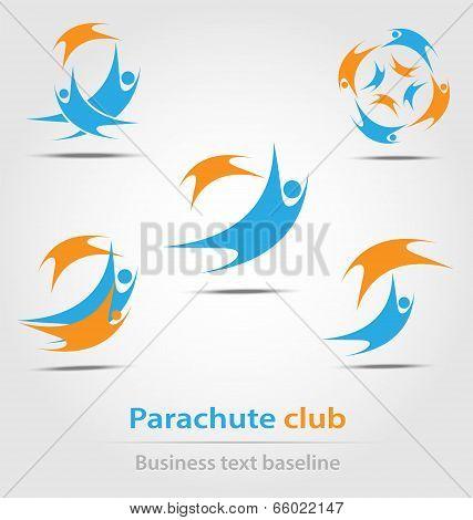 Parachute And Parachute Club Business Icon