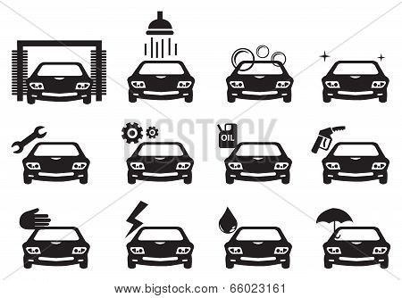 Car Service Icon Set