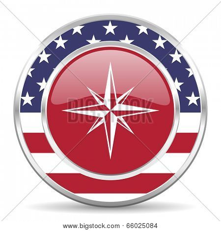 compass american icon, usa flag