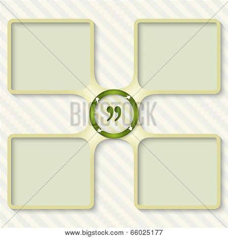 Four Boxes For Entering Text With Arrows And Quotation Mark