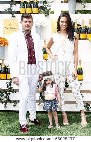 JERSEY CITY, NJ-MAY 31: Designer Eli Mazrahi (L) and Shanina Shaik attend the 7th Annual Veuve Cliquot Polo Classic at Liberty State Park on May 31, 2014 in Jersey City, NJ.