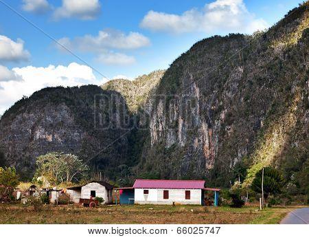 The road in Vinales Valley Cuba