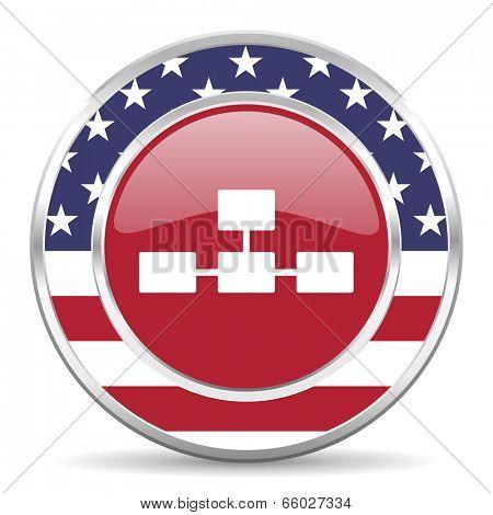 database american icon, usa flag