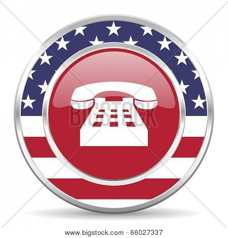 phone american icon, usa flag