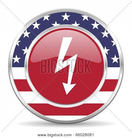 bolt american icon, usa flag