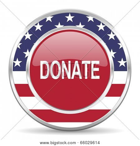 donate american icon, usa flag
