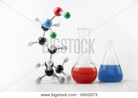 Chemistry, Molecular Chain and Flasks