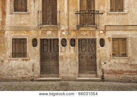 Derelict buildings in Treviso, Italy