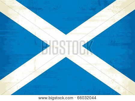A grunge scottish flag for you