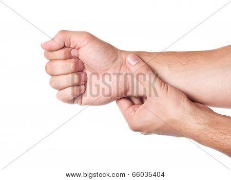 Human Hand Measuring Arm Pulse