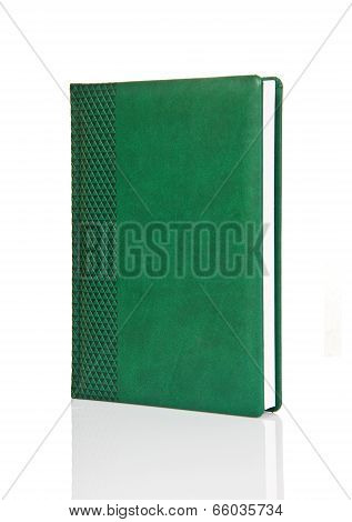 Blank Green Hardback Book With Ornament