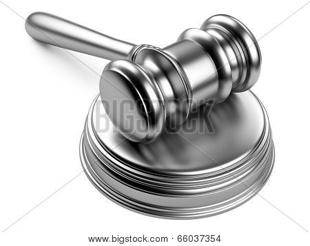 Metallic Gavel And Soundboard