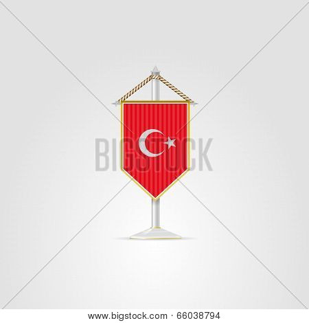 Illustration Of National Symbols Of Asian Countries. Turkey.