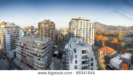 Apartments in a city, Providencia, Santiago, Chile