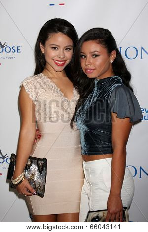 LOS ANGELES - JUN 1:  Cierra Ramirez, Savannah Ramirez at the 7th Annual Television Academy Honors at SLS Hotel on June 1, 2014 in Los Angeles, CA
