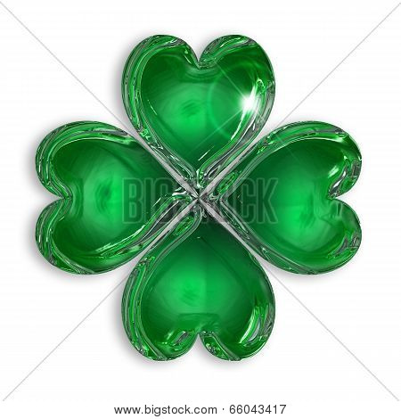 glossy four-leaf clover