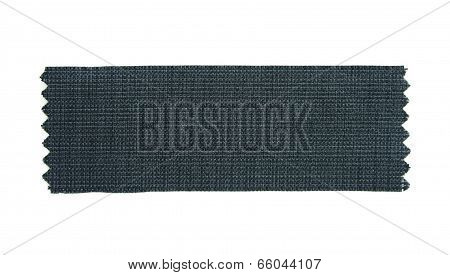 Black Fabric Sample Isolated On White